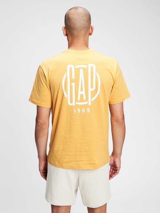 Erkek Sarı Gap Logo T-Shirt