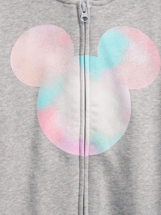 Kız Çocuk Gri Disney Mickey Kapüşonlu Sweatshirt