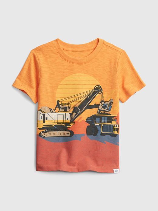 Erkek Bebek Turuncu Grafik T-shirt