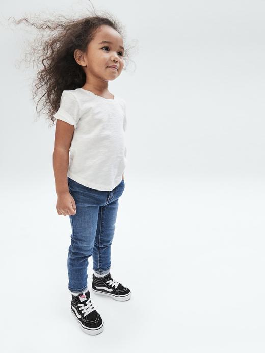 Kız Bebek Lacivert Skinny Fit Jean