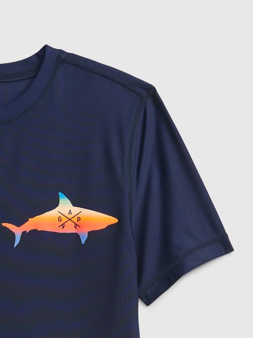 Erkek Çocuk Lacivert Balık Baskılı T-Shirt