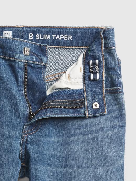Erkek Çocuk Mavi Slim Taper Jean Pantolon