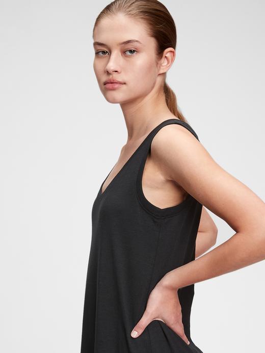 Kadın Siyah Kalın Askılı Maxi Elbise
