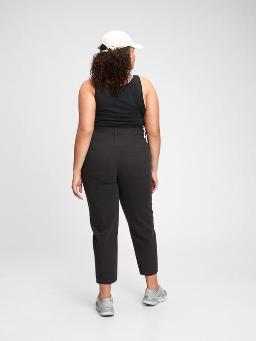 Kadın Siyah High Rise Barrel Jean Pantolon
