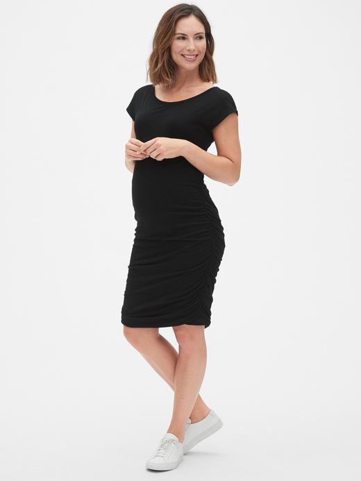 Kadın Siyah Maternity Bodycon Elbise