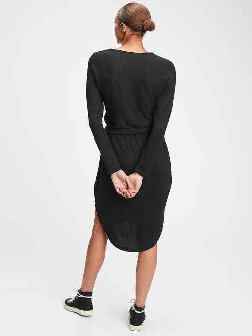 Kadın Kahverengi Uzun Kollu Elbise
