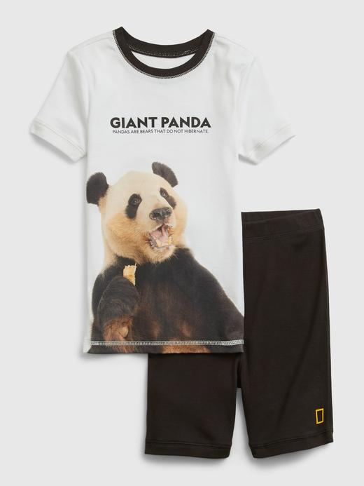 Kız Çocuk Beyaz National Geographic Organik Grafik T-Shirt