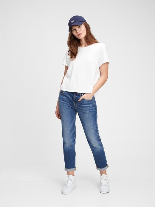 Kadın Lacivert Mid Rise Girlfriend Jean Pantolon