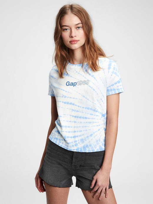 Kadın Mavi Gap Logo T-shirt
