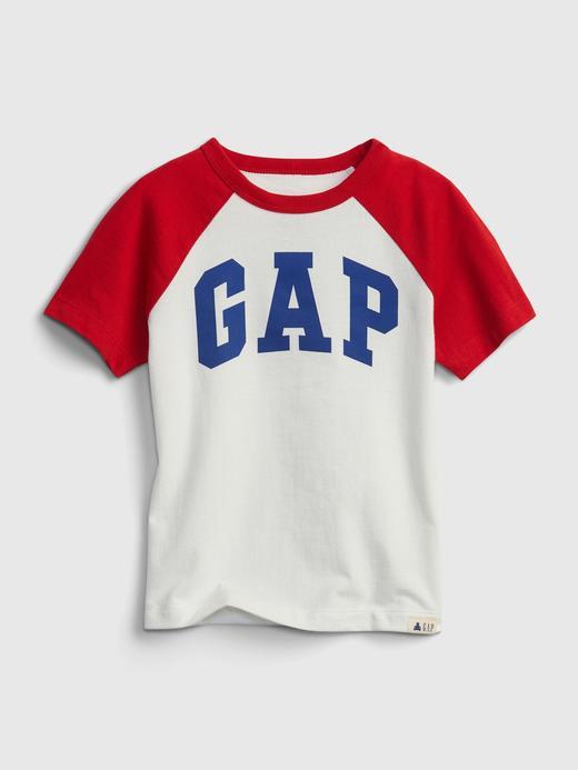 Erkek Bebek Beyaz Gap Logo T-Shirt