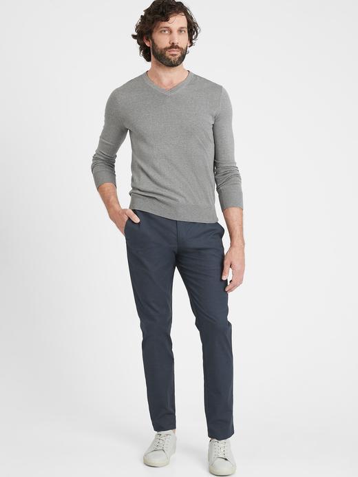 Erkek Lacivert Slim Core Temp Chino Pantolon