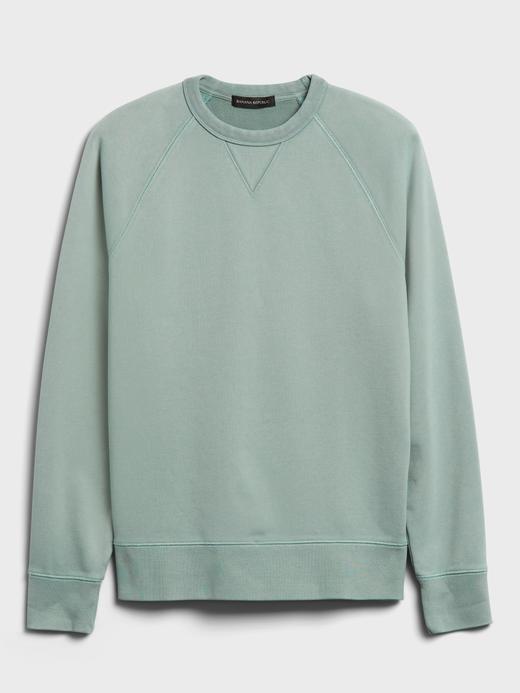 Erkek Yeşil Organik French Terry Sweatshirt