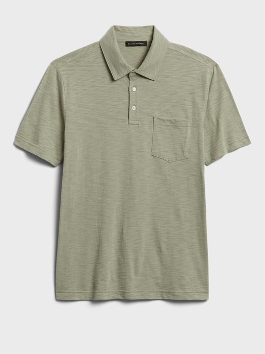 Erkek Yeşil Organik Soft Wash Polo Yaka T-Shirt
