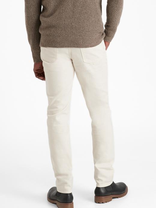 Erkek Bej Slim Organik Jean Pantolon