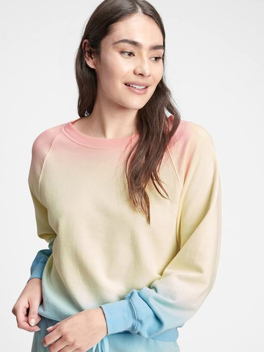 Kadın Pembe Gap Logo Yuvarlak Yaka Sweatshirt