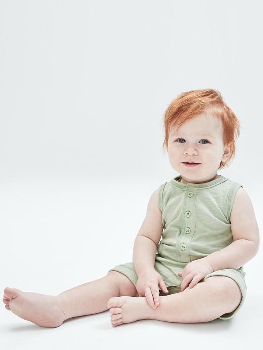 Erkek Bebek Mavi Askılı Tulum