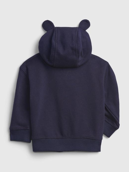 Erkek Bebek Gri Gap Logo  Baskılı Sweatshirt