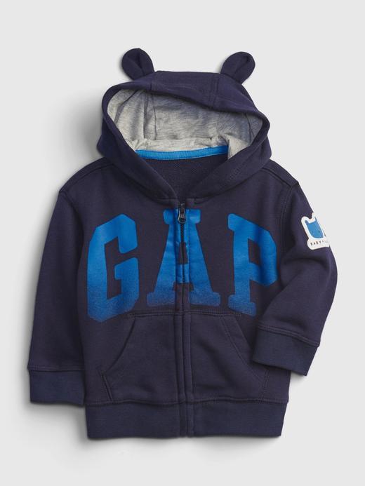 Erkek Bebek Lacivert Gap Logo  Baskılı Sweatshirt