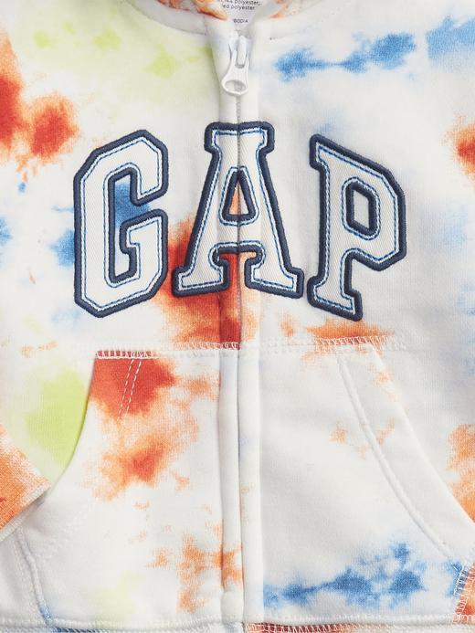 Erkek Bebek Pembe Gap Logo Tie-Dye  Sweatshirt