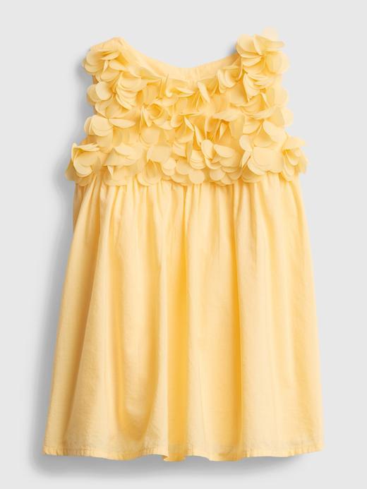 Kız Bebek Sarı Çiçek Desenli Elbise