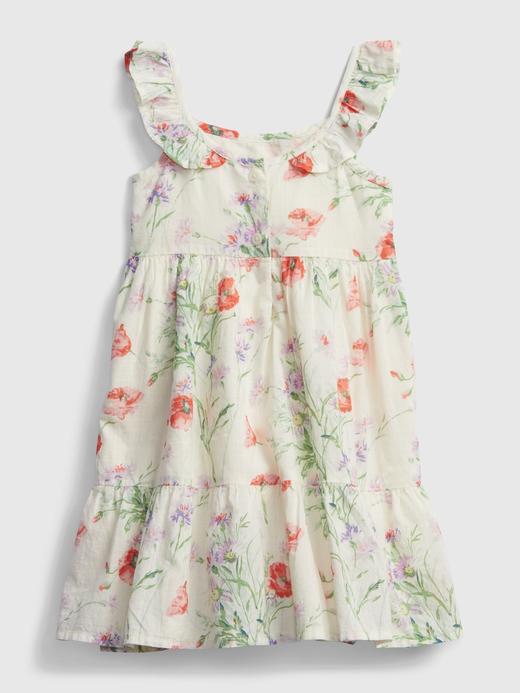Kız Bebek Çok Renkli Çiçek Desenli Elbise
