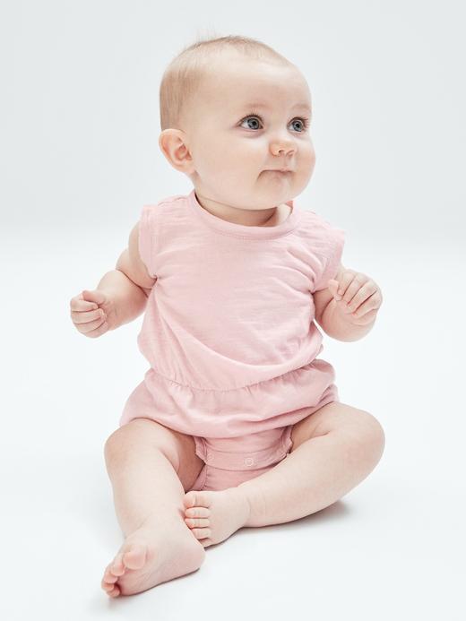 Kız Bebek Turuncu Kolsuz Tulum