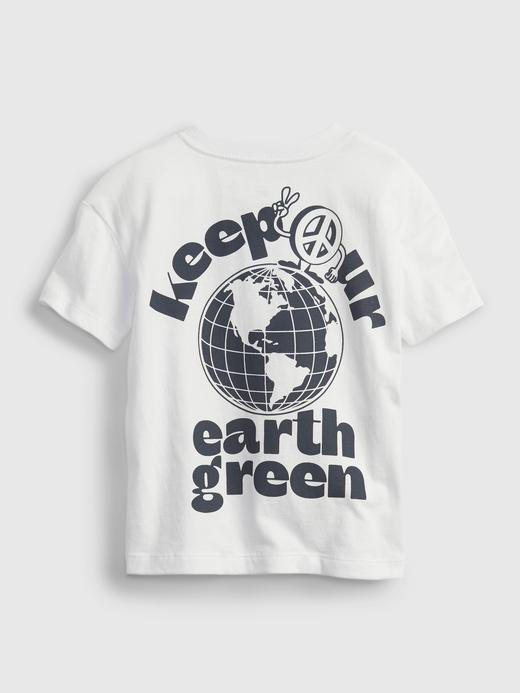 Erkek Bebek Beyaz Grafik Desenli T-Shirt