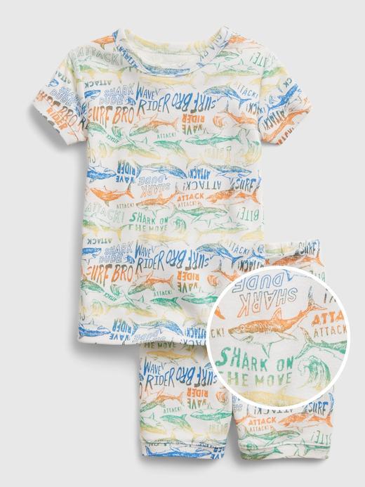 Kız Bebek Beyaz Organik Pamuklu Pijama Seti