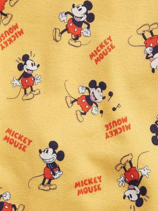 Kız Bebek Sarı Organik Pamuklu Disney Mickey Mouse Desenli Pijama Takımı
