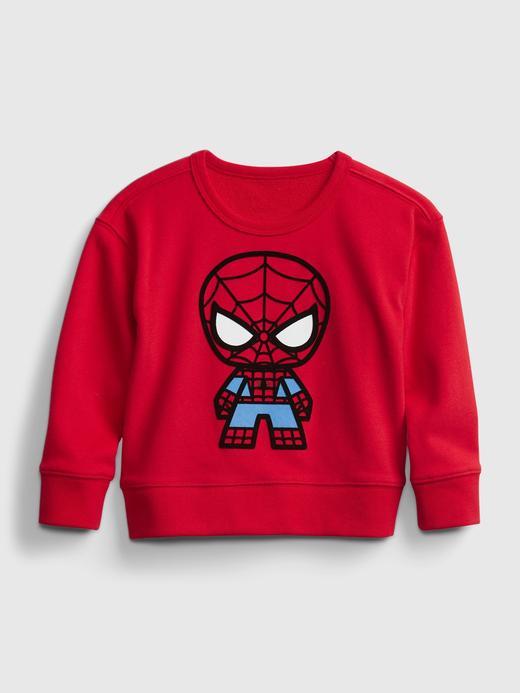 Erkek Bebek Kırmızı Marvel Grafik Desenli Sweatshirt