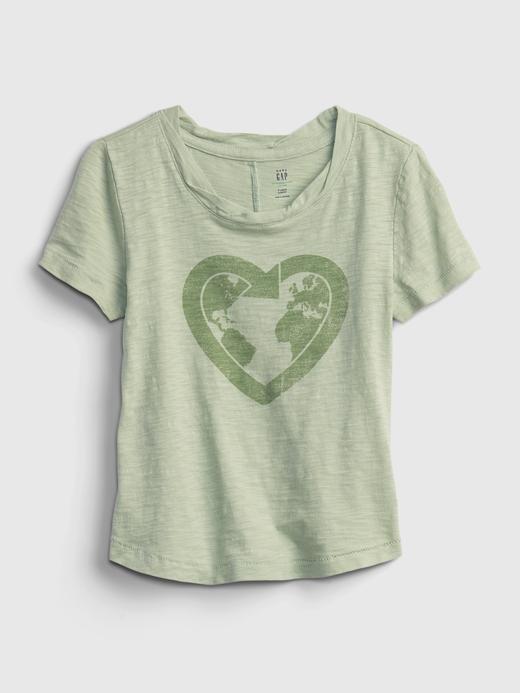 Kız Bebek Yeşil Grafik Desenli T-Shirt