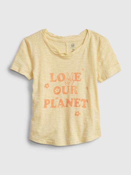 Kız Bebek Turuncu Grafik Desenli T-Shirt
