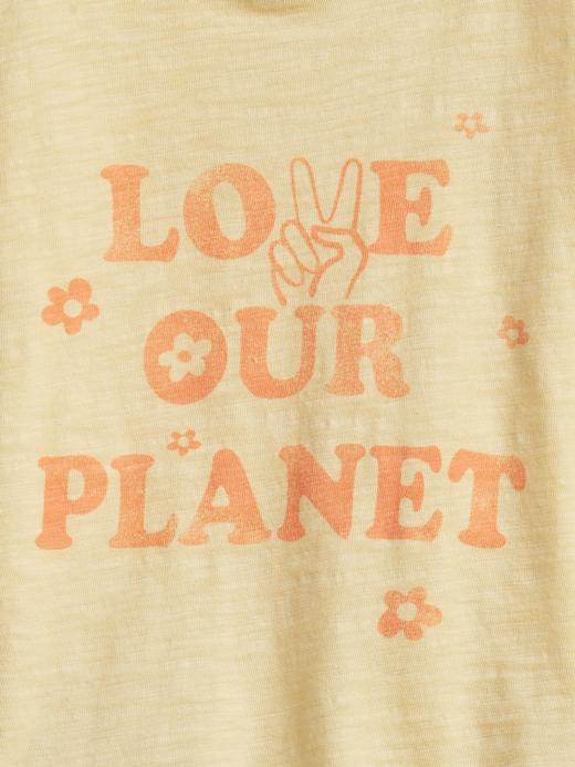 Kız Bebek Beyaz Grafik Desenli T-Shirt