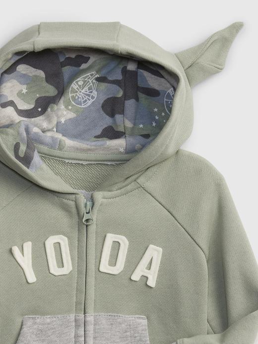 Erkek Bebek Gri Star Wars™ Kapişonlu Sweatshirt