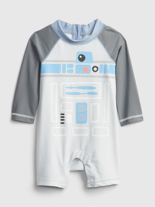 Erkek Bebek Gri Star Wars Baskılı Tulum