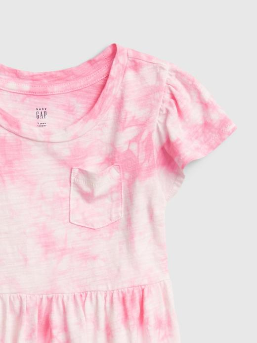 Kız Bebek Pembe Tie-Dye Elbise