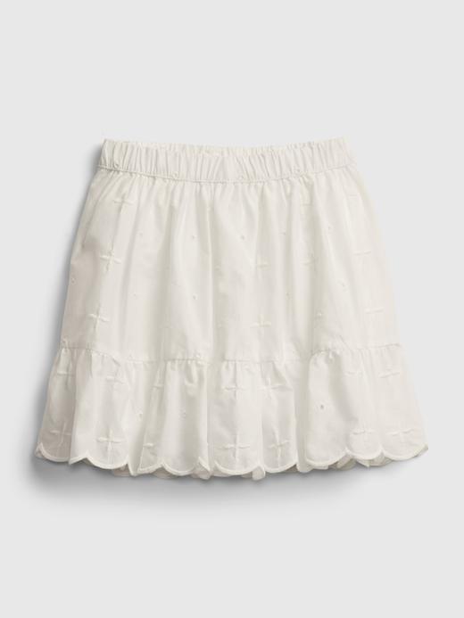 Kız Bebek Beyaz Fırfır Detaylı Etek