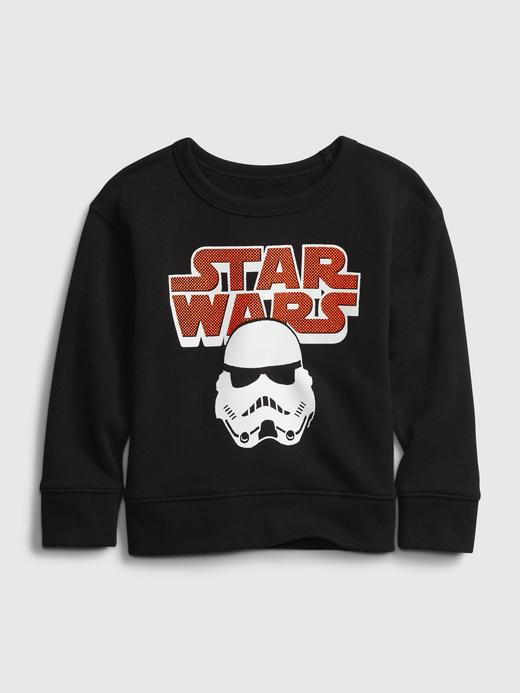 Erkek Bebek Siyah Star Wars Baskılı Sweatshirt