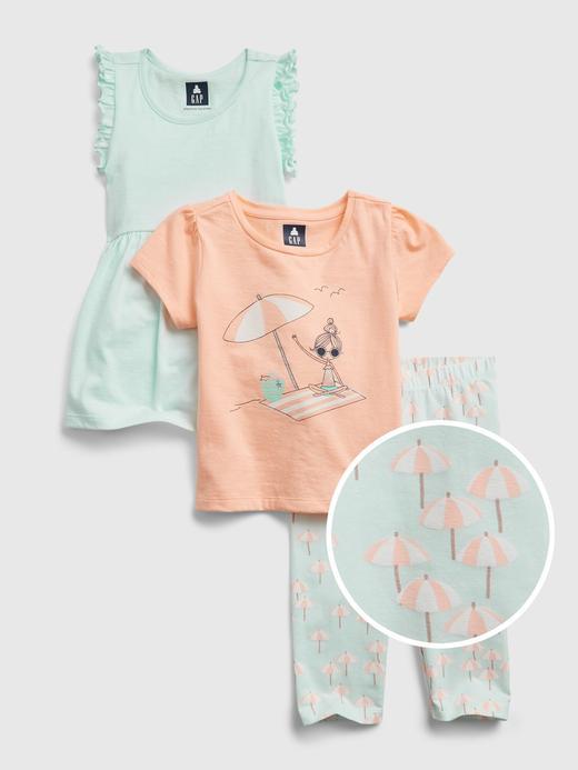 Kız Bebek Çok Renkli Organik Pamuklu 3'lü Takım