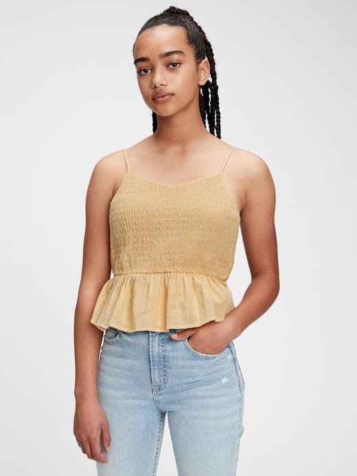 Kız Çocuk Sarı Organik Pamuklu Askılı T-Shirt