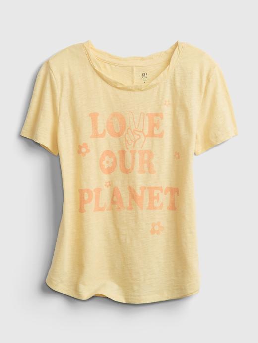 Kız Çocuk Turuncu Grafik Desenli T-Shirt