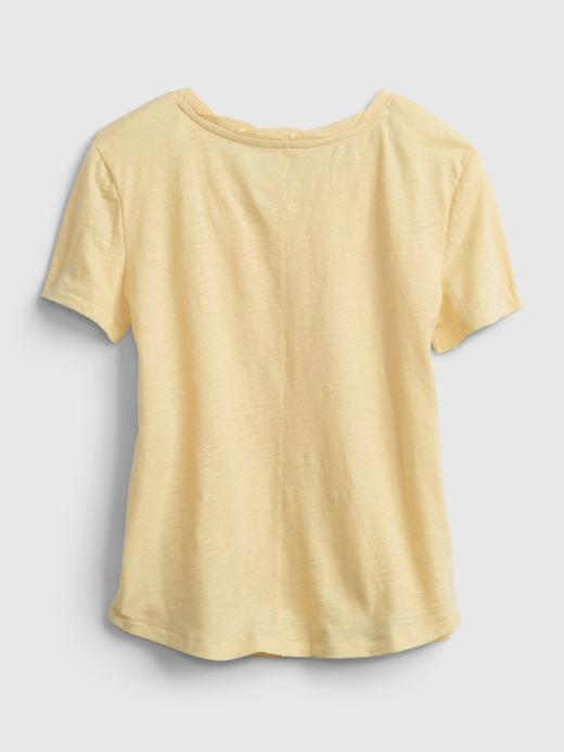 Kız Çocuk Beyaz Grafik Desenli T-Shirt