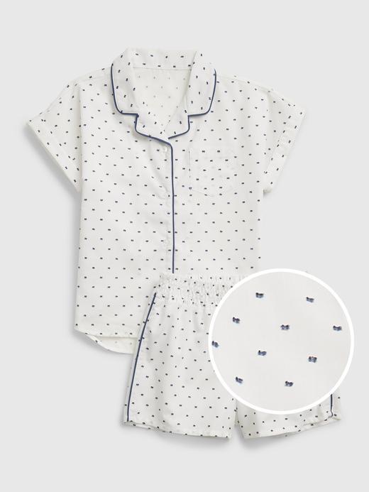 Kız Çocuk Mavi Kareli Pijama Takımı