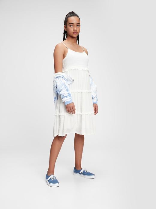 Kız Çocuk Beyaz Midi Elbise