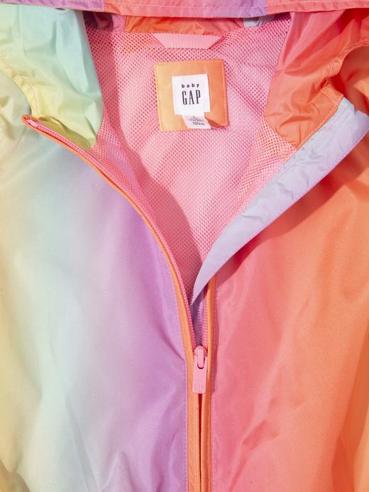 Kız Bebek Çok Renkli Kapüşonlu Renkli Yağmurluk