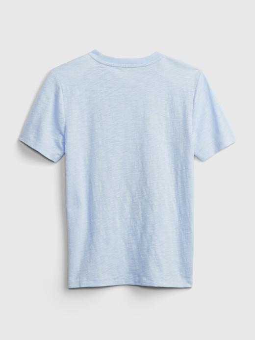 Erkek Çocuk Lacivert Grafik Desenli T-Shirt