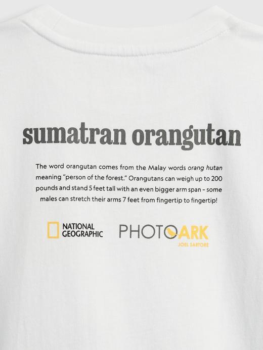 Erkek Çocuk Beyaz National Geographic Grafik Desenli T-Shirt