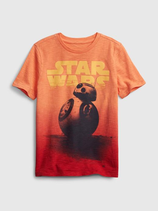 Erkek Çocuk Turuncu Star Wars Grafik T-Shirt