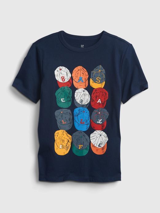 Erkek Çocuk Siyah Organik Pamuk  Grafik Desenli T-Shirt