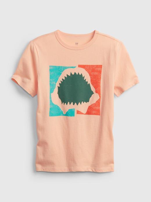 Erkek Çocuk Pembe Organik Pamuk  Grafik Desenli T-Shirt